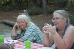 Me on the right and Mom enjoying our campsite