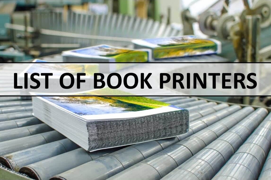 List Of Book Printers In The United States And International Book Printers Nonfiction Authors Association