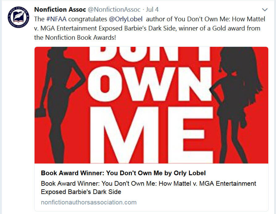 nonfiction book awards winner tweet