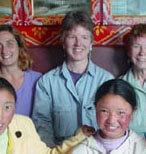 With Tibetan girls