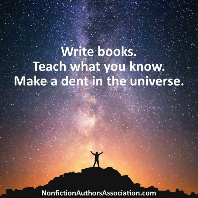 Nonfiction Authors Association - Make a Dent in the Universe