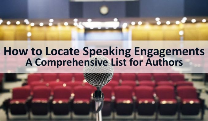 how to locate speaking engagements - for authors