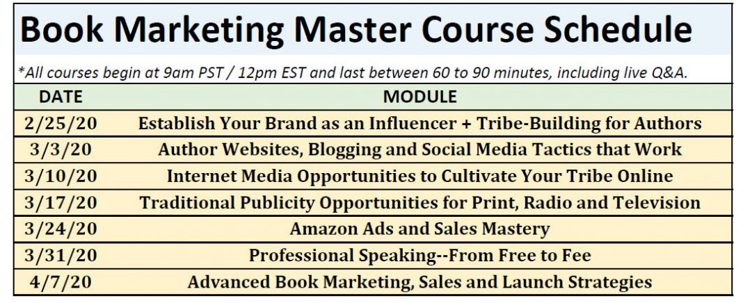 Book marketing master course schedule-final