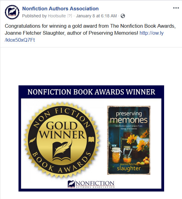 Nonfiction Book Awards Winner - Gold Book Award