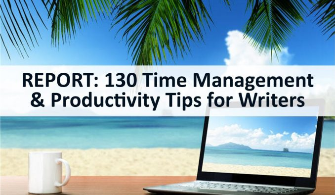 time management and productivity tips for writers