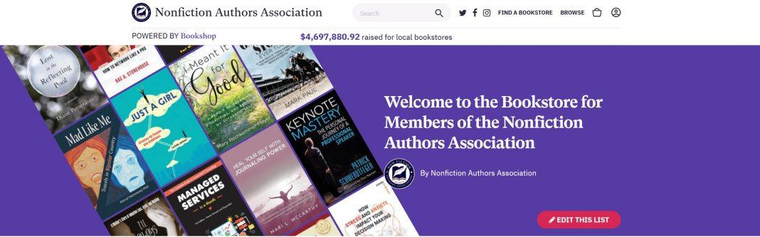 Nonfiction Authors Association Member Bookstore Header