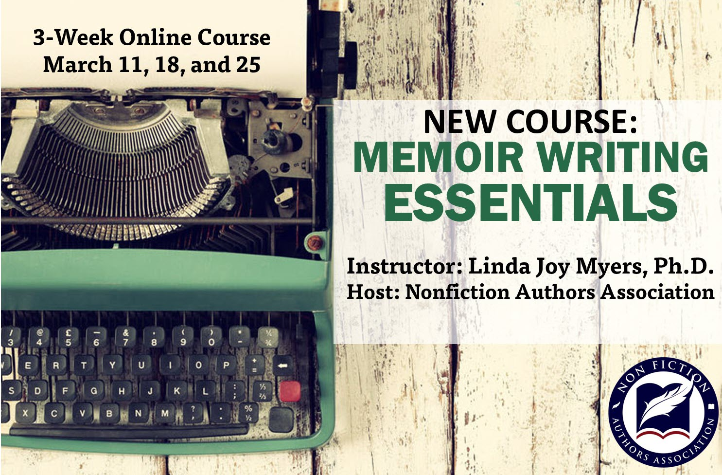 Memoir Writing Essentials Course