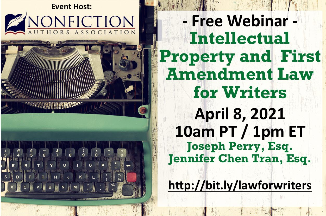 Free Webinar: Law for Writers