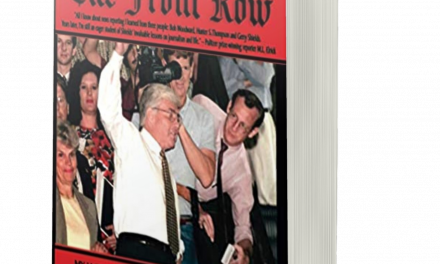 BOOK AWARD WINNER: THE FRONT ROW: MY JAGGED JOURNEY RECORDING AMERICAN HISTORY REAGAN TO TRUMP