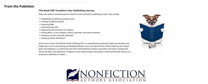 A+ Content from The Nonfiction Book Publishing Plan
