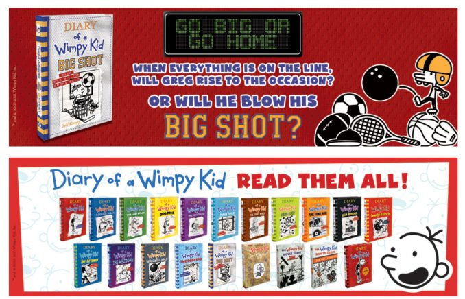A+ content amazon book page - wimpy kid